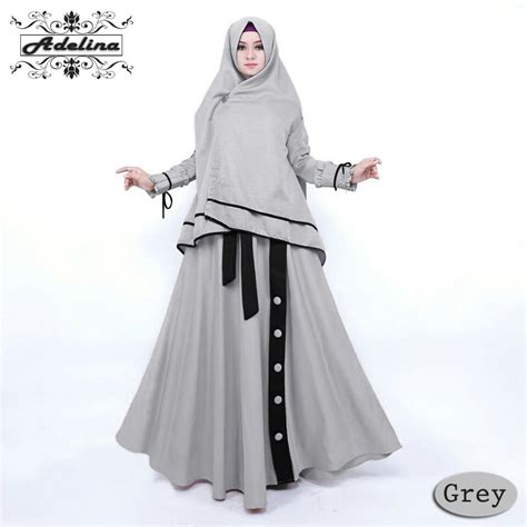 Saiyah Kaftan Baju Muslim Gamis Syari adelina gamis syari busui kekinian baju muslim hijabers