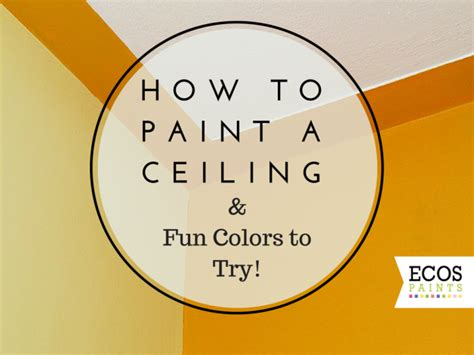 how to paint a ceiling colors to try
