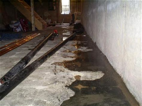 negative side basement waterproofing sealing water out
