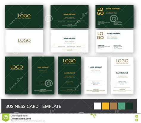 gold business card template free green and yellow gold business card template stock