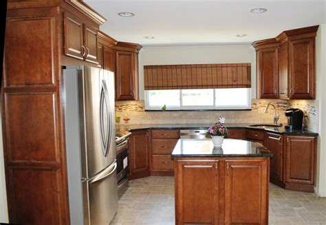 Kurtis Cabinets by Warm Maple Tile Classic Traditional