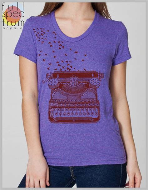Tshirt 09 Xl From Ordinal Apparel writers gift vintage typewriter s t shirt with birds