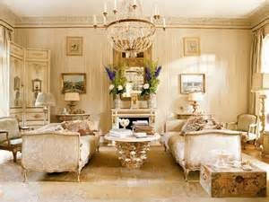 Living room in french style with gold elements
