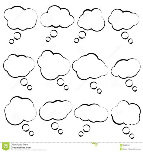 Buble Simple simple vector speech clouds stock vector image 34981841