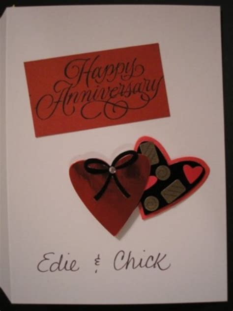 Handmade Anniversary Gifts For - handmade greetings cards