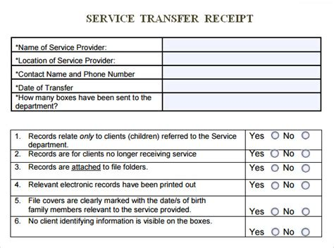 sle service receipt template 9 free documents in pdf