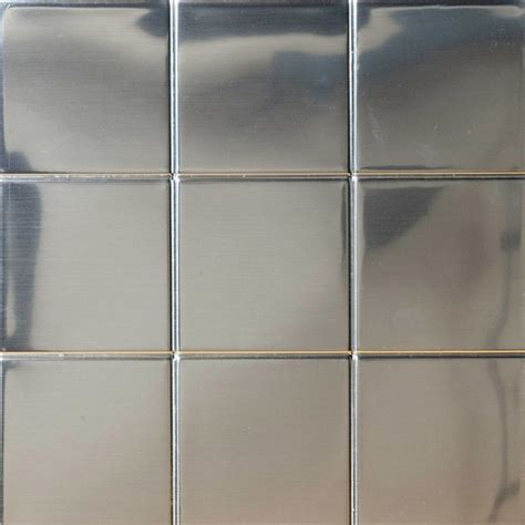brushed steel tile stickers from fabricform neken - Tile Stickers Kitchen