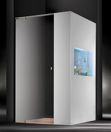 Cesana Shower Doors Shower With Aquarium By Cesana Plano Acquario