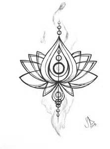 Few Lines On Lotus Flower In Tatouages De Fleur De Lotus Dessins De Fleurs Pour