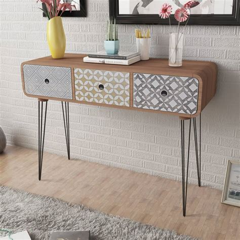 console table with cabinets side cabinet console table with 3 drawers brown vidaxl