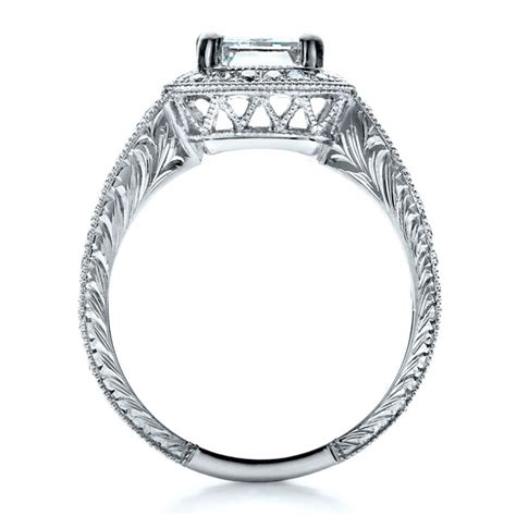 custom emerald cut engagement ring 1478