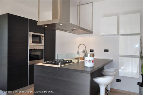 cucina in rovere grigio cucina rovere grigio con penisola brachini torino