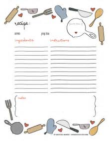 Joy of giving free printable recipe page template