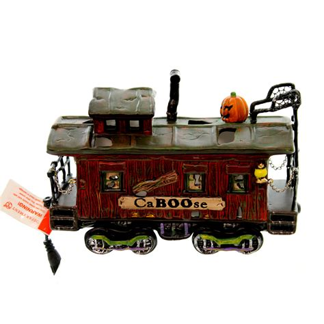 dept 56 accessories haunted rails caboose halloween snow