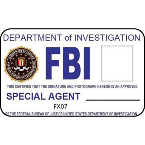 Cia Id Card Template Maker by Fbi Id Card Generator Poemview Co