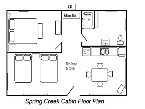 Cabin Floor Plans by Creek Cabin Floor Plan