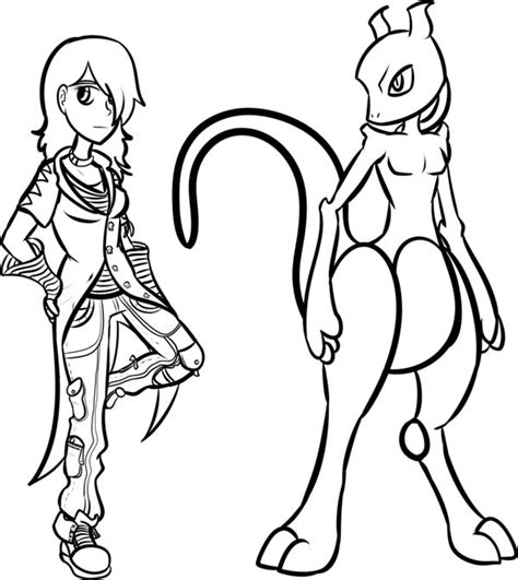 Mega Mewtwo Y Coloring Pages by Mega Mewtwo X Coloring Pages