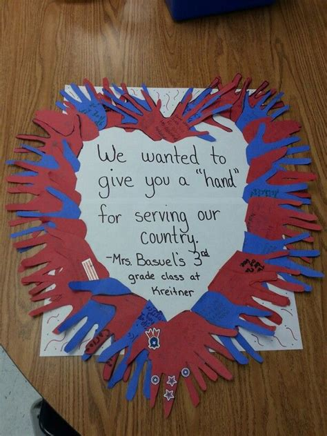 veterans day crafts for the cards could then be sent to veterans hospitals or to