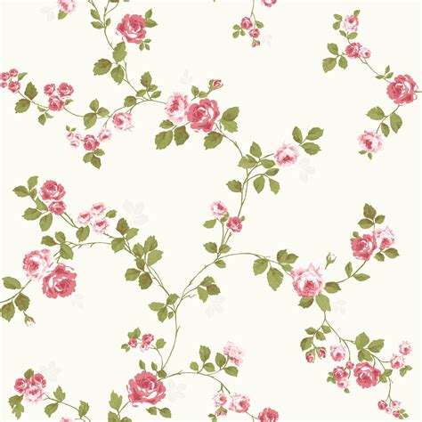 flower wallpaper ebay luxury shabby chic vintage pink floral roses trail kitch