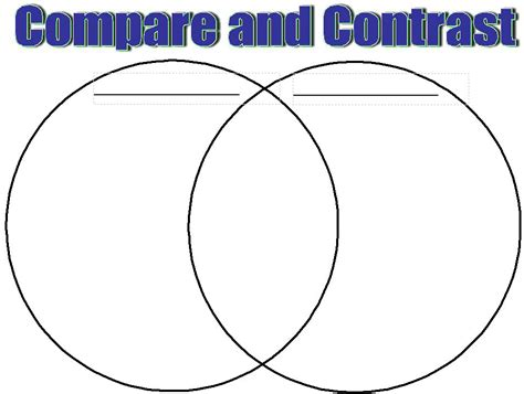 printable venn diagram for first grade compare and contrast worksheets middle school free