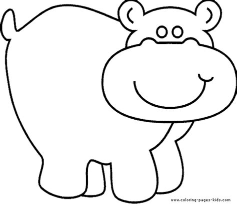 happy hippo coloring page hippo color page