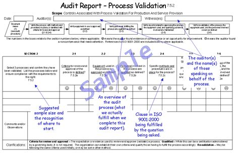 internal audit report 9001 2000auditreportsystem gif
