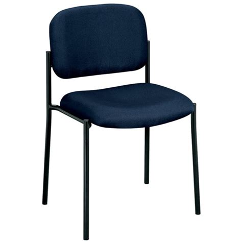Navy Blue Chair by Basyx Vl606 Armless Guest Chair Navy Blue 1 Each