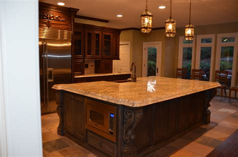 French Country Kitchen Islands by Tuscan Style Belle Maison Living