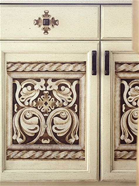 Stencils For Cabinet Doors Candi S Decorating On A Budget Easy Cabinet Updates