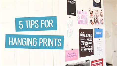 how to hang prints how to hang prints top 5 tips charlimarietv youtube