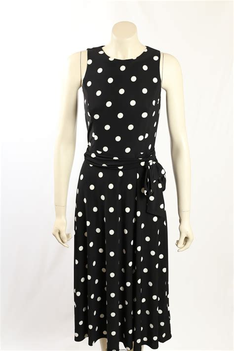 Dress Navy Polkadot ralph size 8 navy white polka dot dress