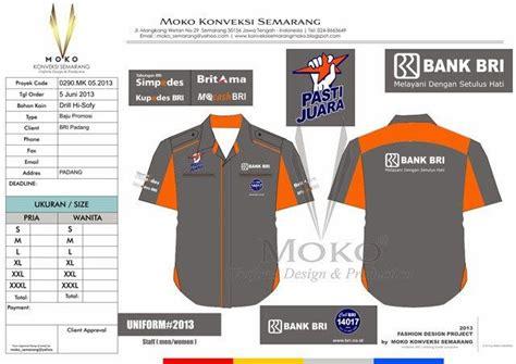desain kemeja bengkel baju bengkel kantor bank bri padang sumatra barat
