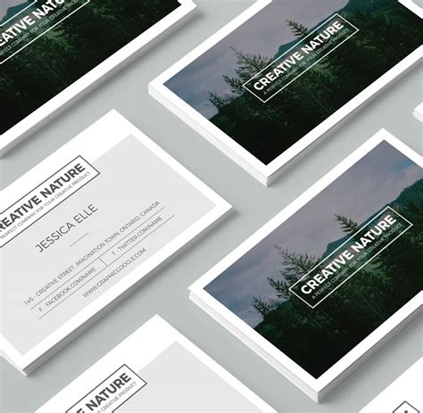Free Business Card Templates Nature by 20 Newest Creative Beautiful Free Business Card Templates
