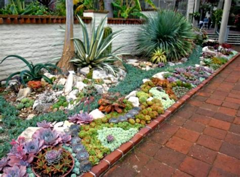 Succulent Garden Layout Inspirations Find Your Best Style Of Succulent Landscaping For Your Garden Design Tenchicha