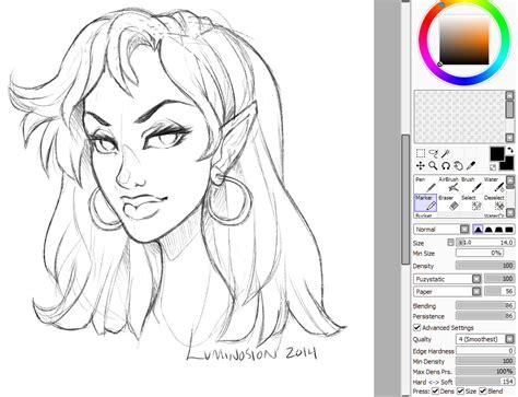 paint tool sai sketch new sai sketch settings by luminosion on deviantart