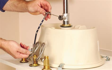 How To Install Bathroom Fixtures How To Install A Bathroom Faucet