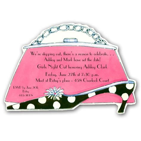 stepping out purse and shoe party invitations paperstyle