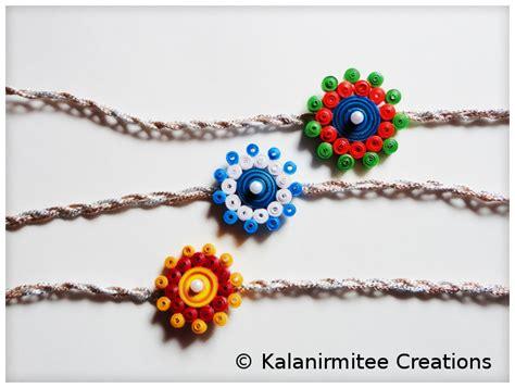 quilling rakhi tutorial quilled rakhi tutorial kalanirmitee creations