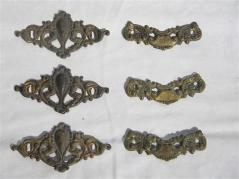 Drawer Pull Hardware Parts by Lot Antique Rococo Brass Hardware Drawer Pulls