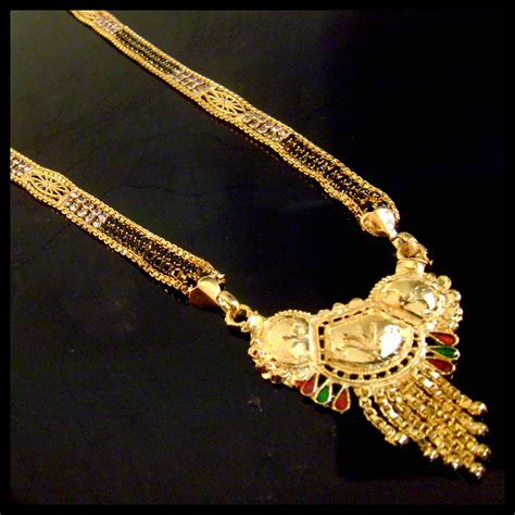 Elgin Platinum 999 5 Plated new design gold plated with mangalsutra necklace