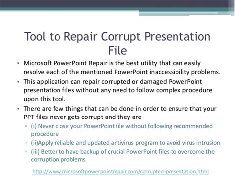 fix your corrupted powerpoint presentation file in few clicks fix your corrupted powerpoint presentation file in few clicks