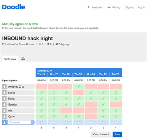 sign up for doodle poll 9 meeting scheduler tools to make your day more productive