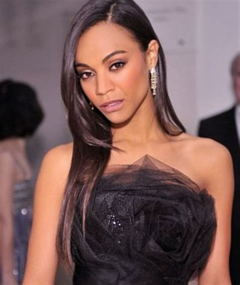 hairstyles zoe saldana zoe saldana hairstyles side parted straight layered
