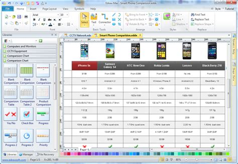 chart maker simple comparison chart maker make great looking