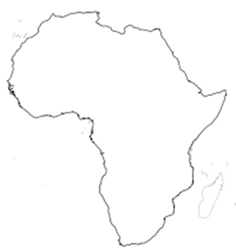 Blank Outline Of Africa by Physical Africa Blank Map Pdf