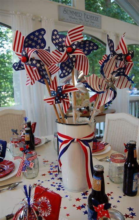 Patriotic Table Decorations a patriotic celebration table setting