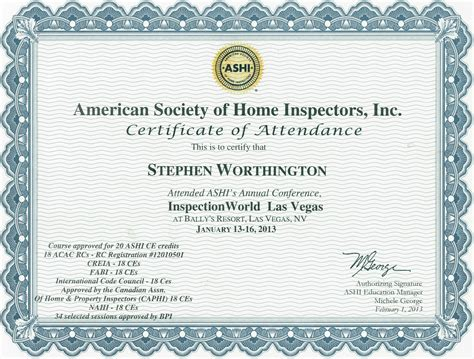 ashi american society of home inspectors 2013 annual