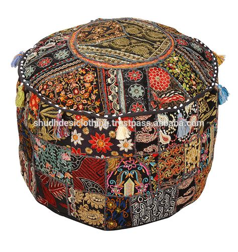 indian ottoman pouf vintage ottomans pouf buy home decor puff indian