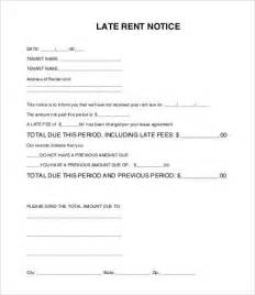 late rent letter template late rent notice template 8 free sle exle