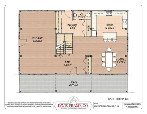 Davis By Ruthie Davis Frame T by Barn House Plans Classic Mountain Haus 1 Floor Plans